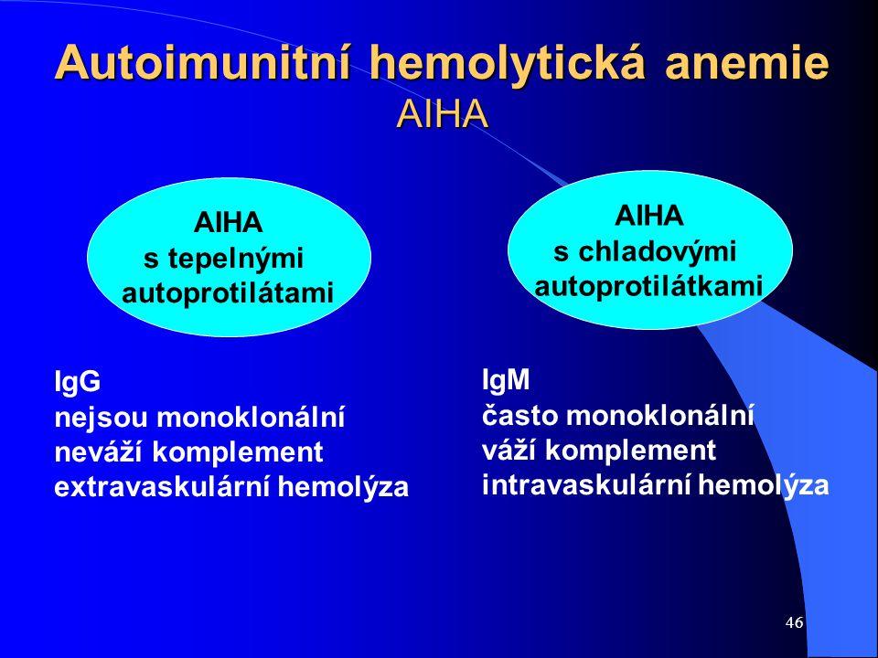Autoimunitní hemolytická anemie AIHA