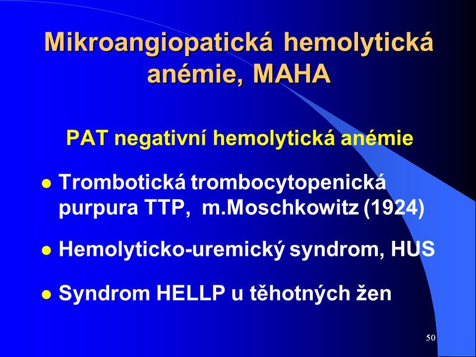Mikroangiopatická hemolytická anémie, MAHA