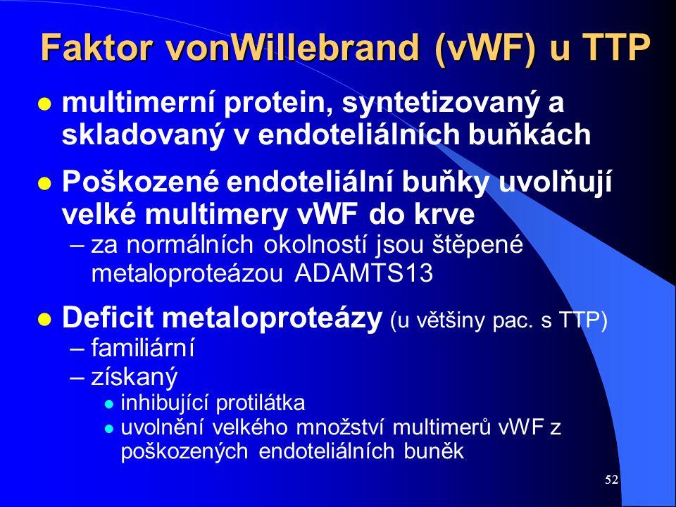 Faktor vonWillebrand (vWF) u TTP