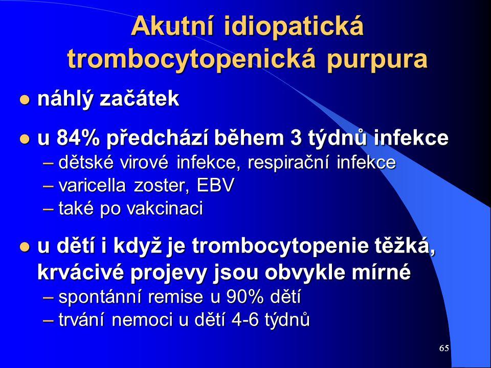 Akutní idiopatická trombocytopenická purpura