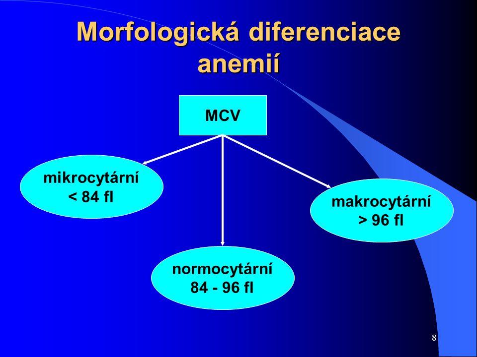 Morfologická diferenciace anemií