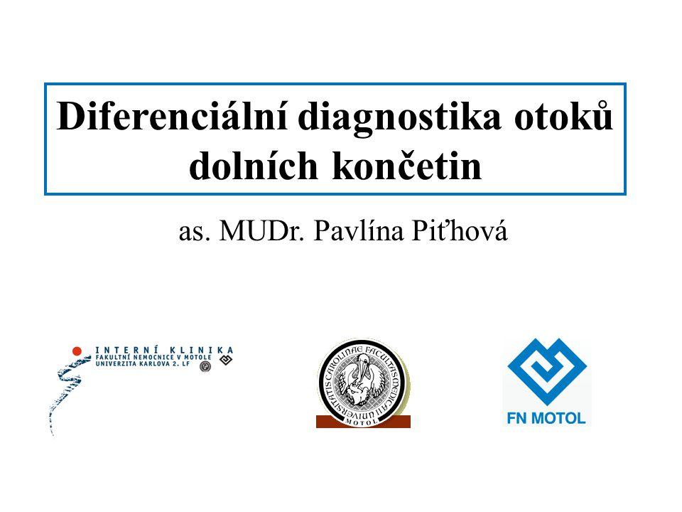 Diferenciální diagnostika otoků dolních končetin
