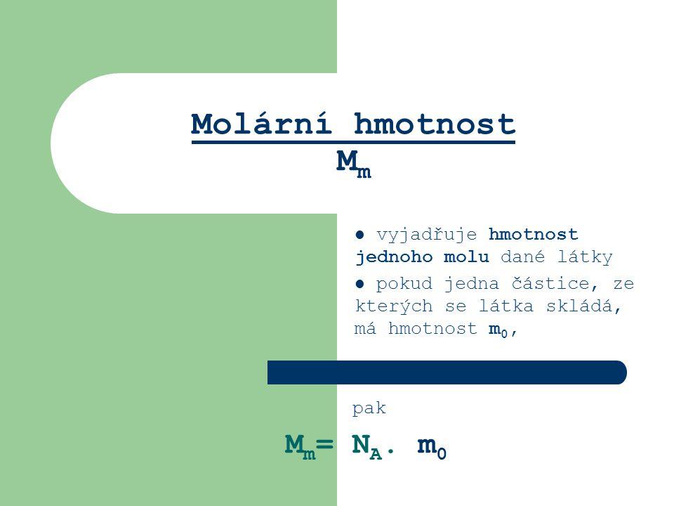 Molární hmotnost Mm Mm= NA. m0