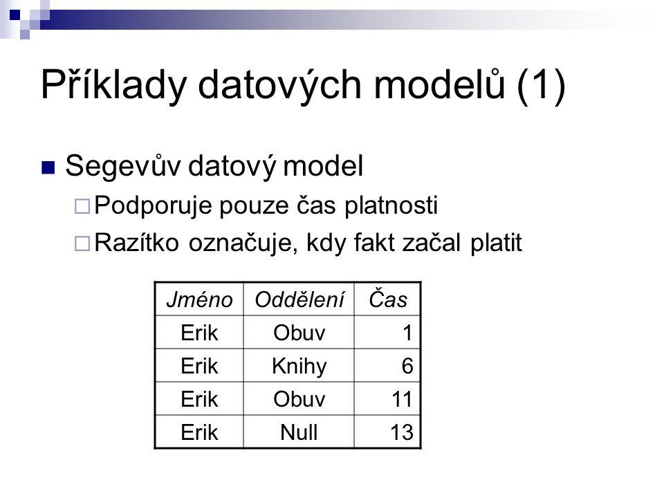 Příklady datových modelů (1)