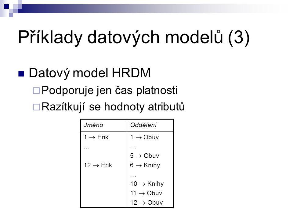 Příklady datových modelů (3)