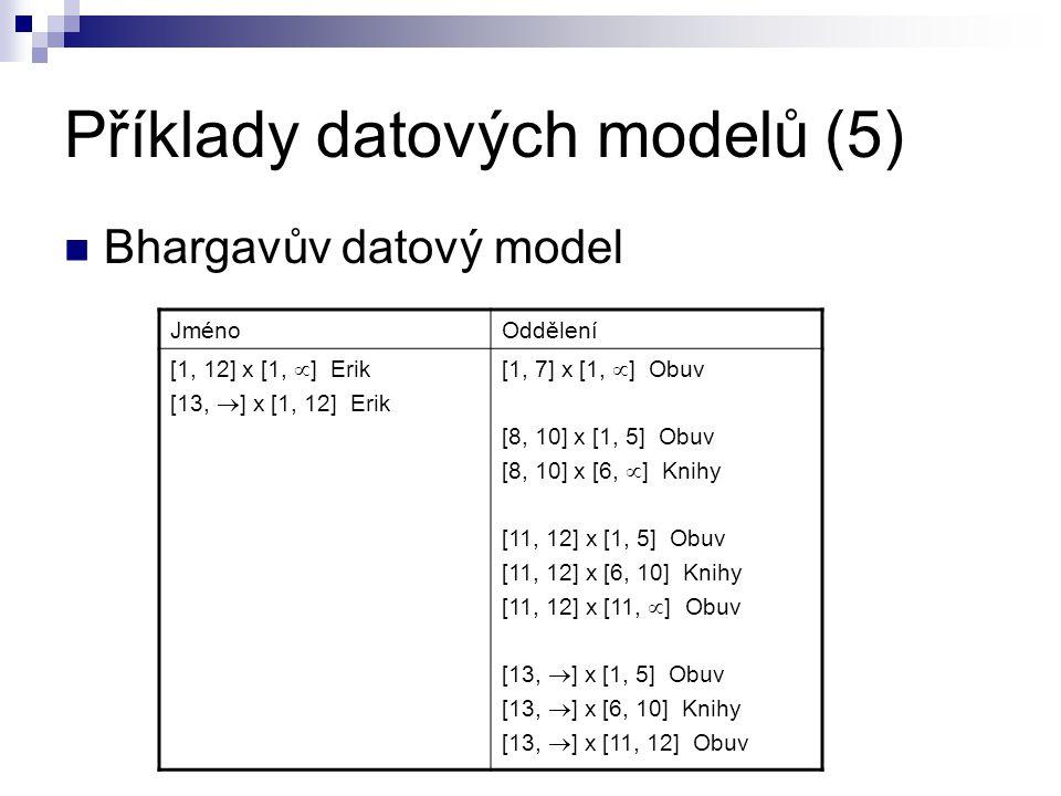 Příklady datových modelů (5)