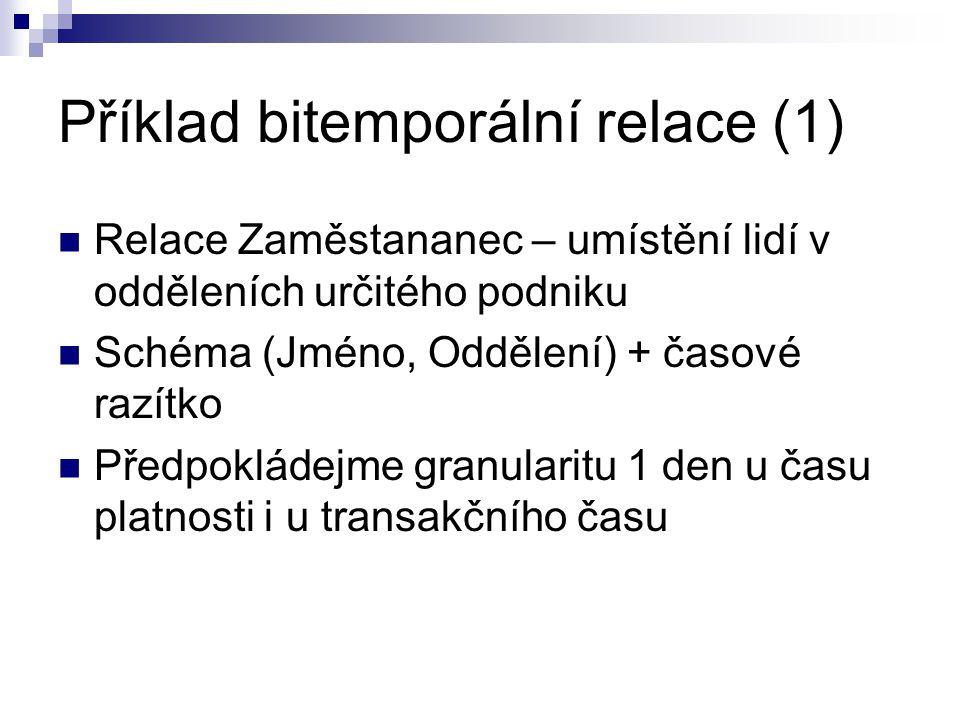 Příklad bitemporální relace (1)