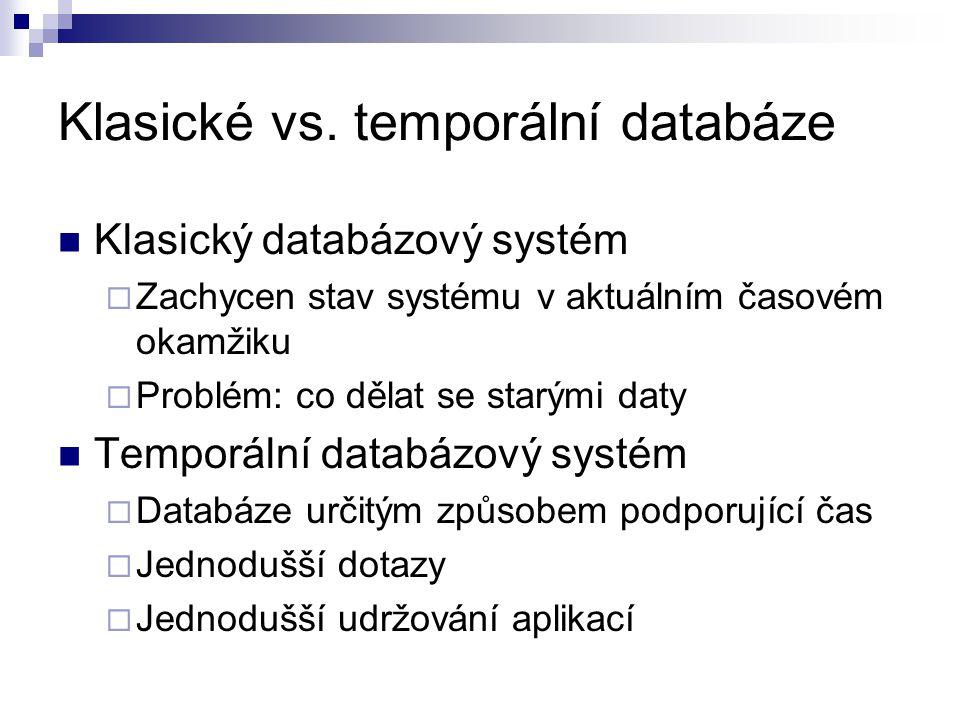 Klasické vs. temporální databáze