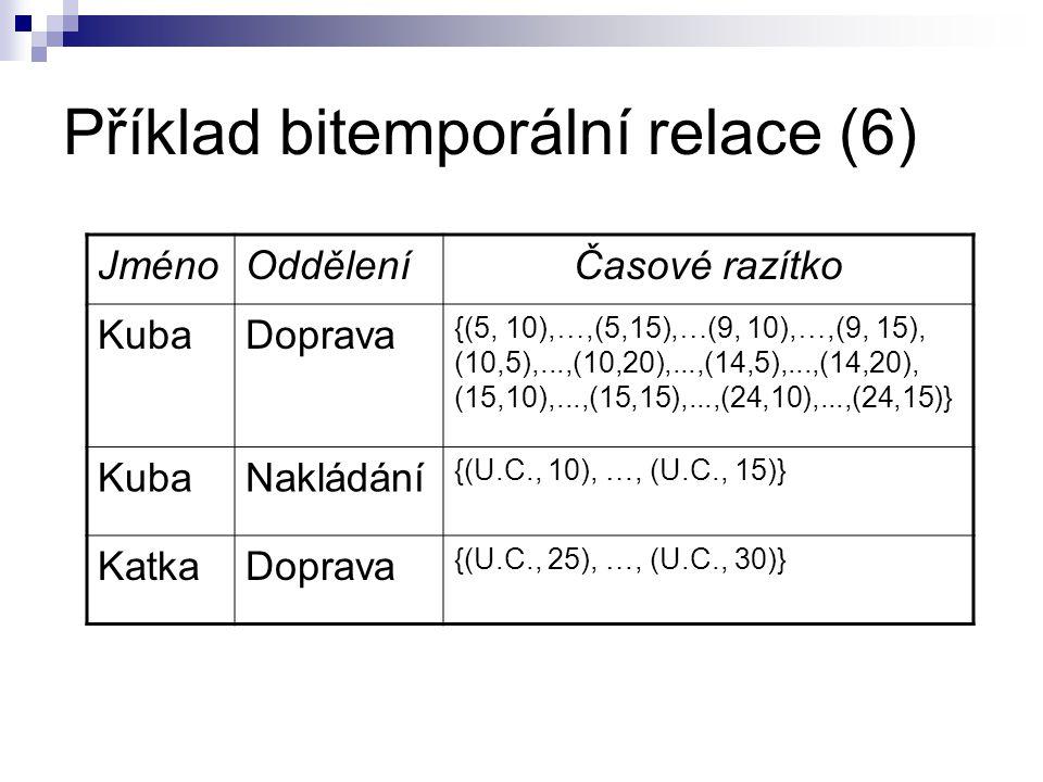 Příklad bitemporální relace (6)