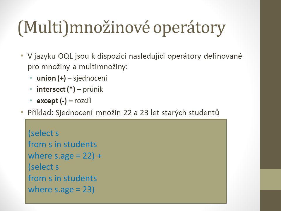 (Multi)množinové operátory