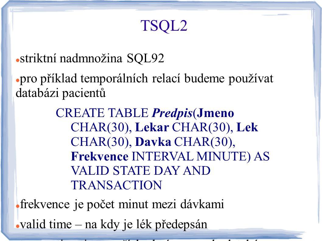 TSQL2 striktní nadmnožina SQL92