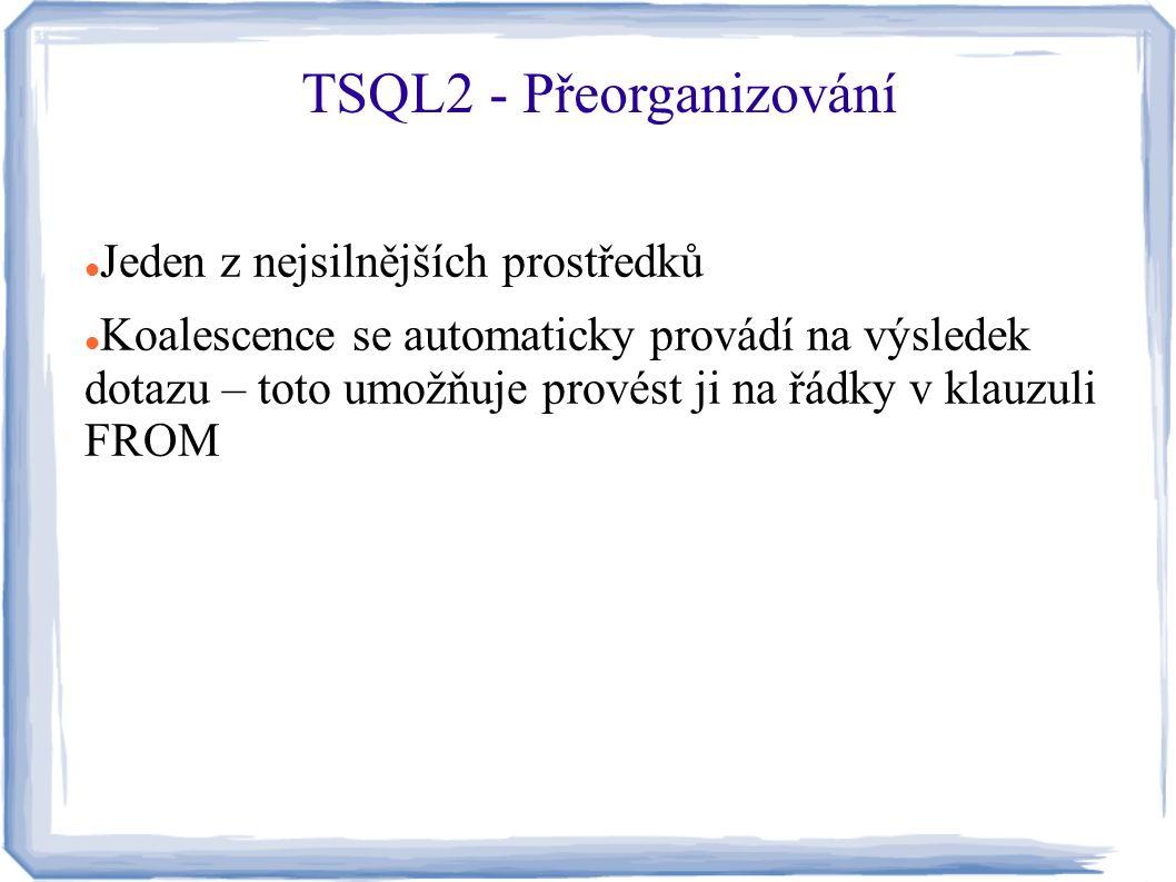TSQL2 - Přeorganizování