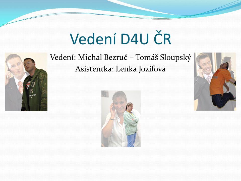 Vedení: Michal Bezruč – Tomáš Sloupský Asistentka: Lenka Jozífová
