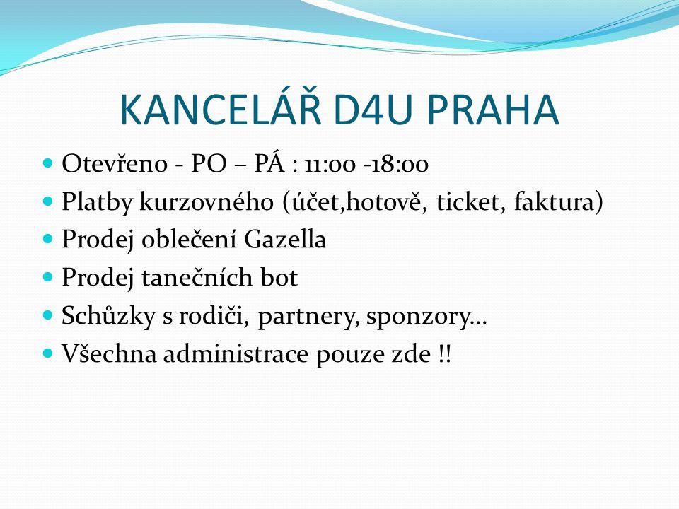 KANCELÁŘ D4U PRAHA Otevřeno - PO – PÁ : 11:00 -18:00