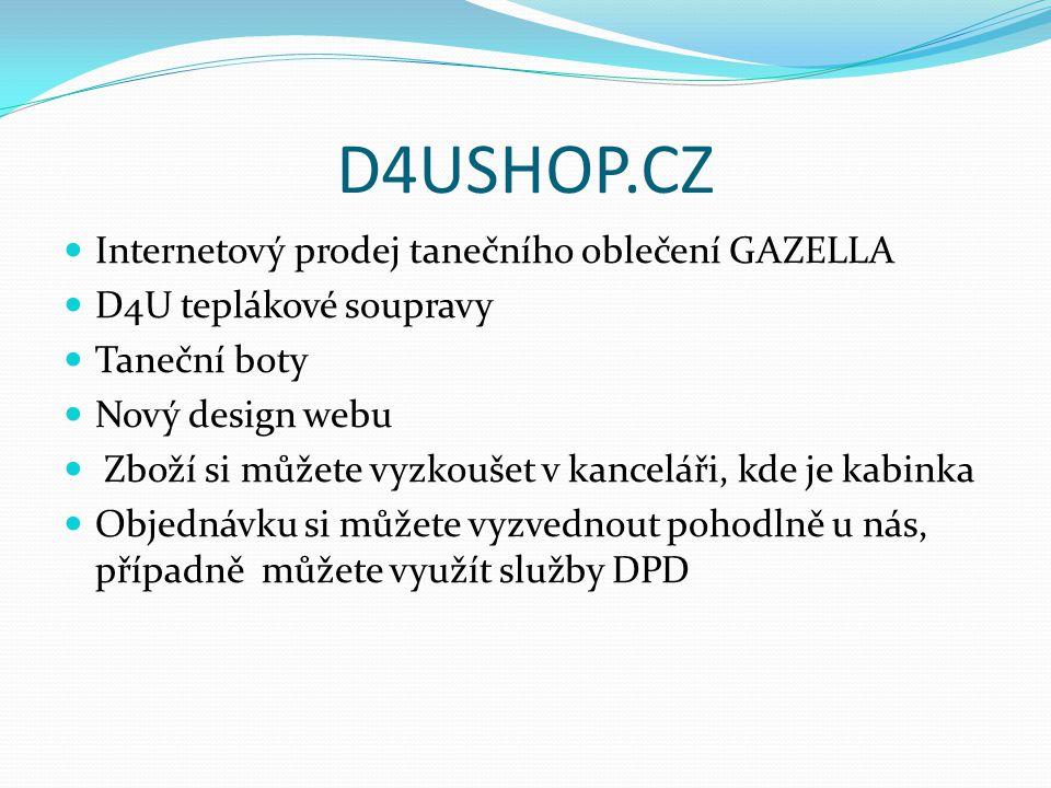 D4USHOP.CZ Internetový prodej tanečního oblečení GAZELLA