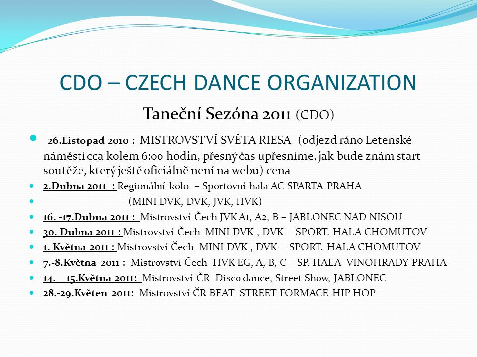 CDO – CZECH DANCE ORGANIZATION