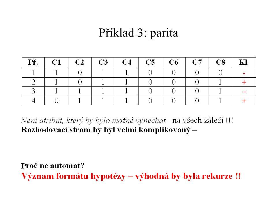 Příklad 3: parita