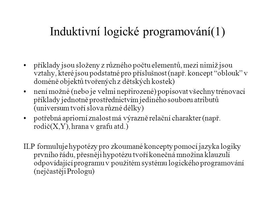 Induktivní logické programování(1)