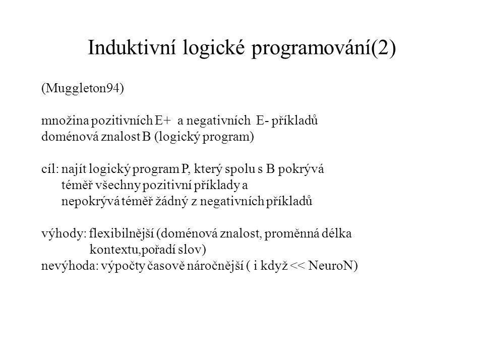 Induktivní logické programování(2)