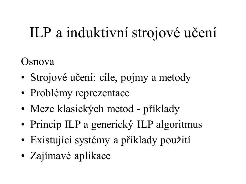 ILP a induktivní strojové učení