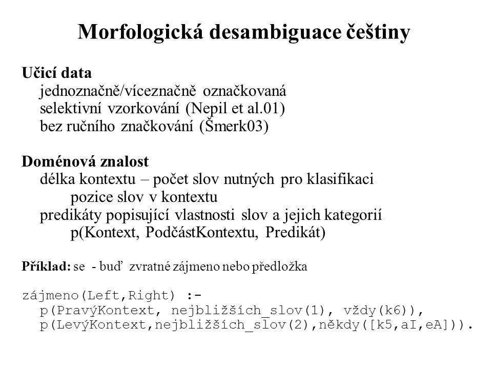 Morfologická desambiguace češtiny