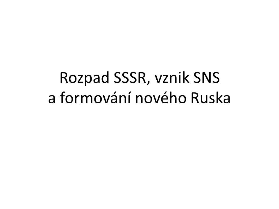 Rozpad SSSR, vznik SNS a formování nového Ruska