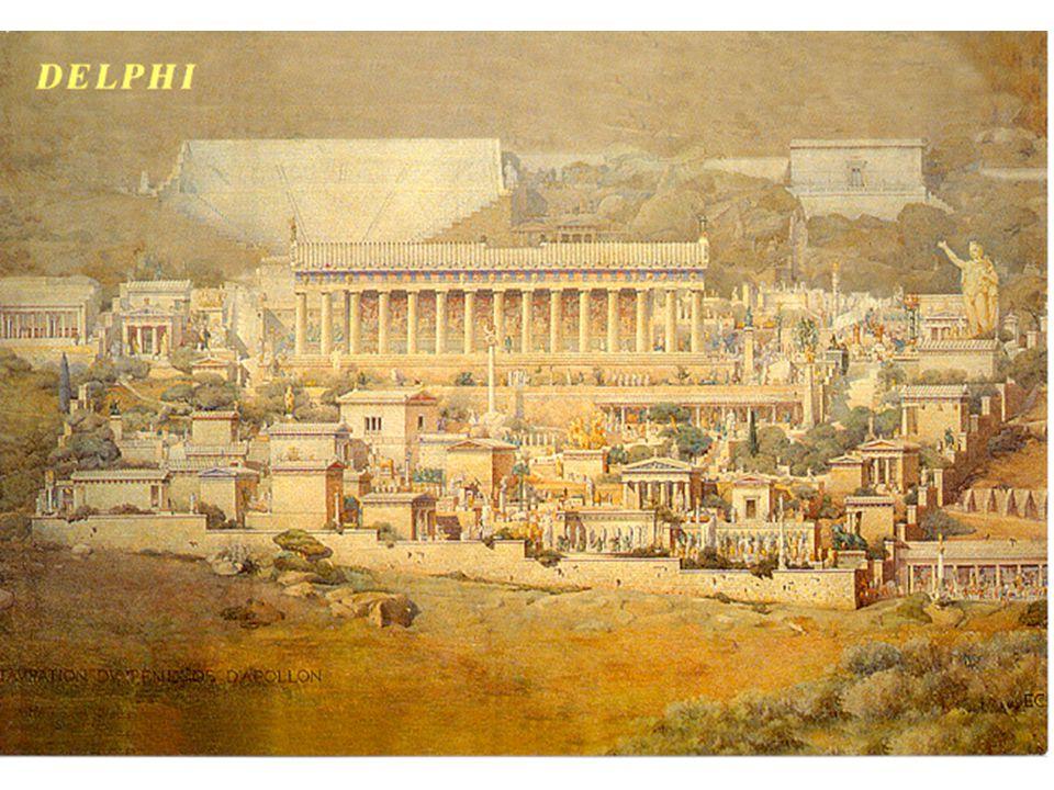 Rekonstrukce chrámu v Delfách