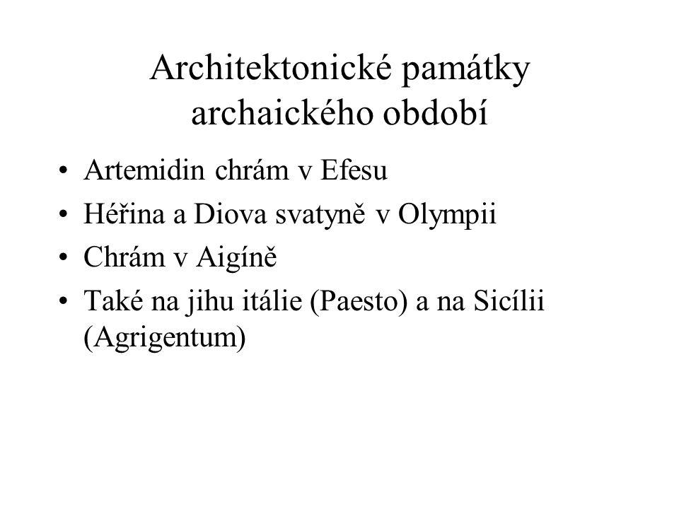 Architektonické památky archaického období