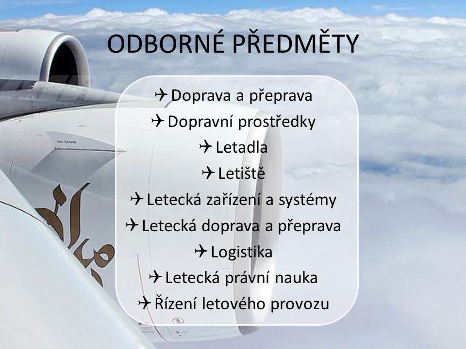 ODBORNÉ PŘEDMĚTY Doprava a přeprava Dopravní prostředky Letadla