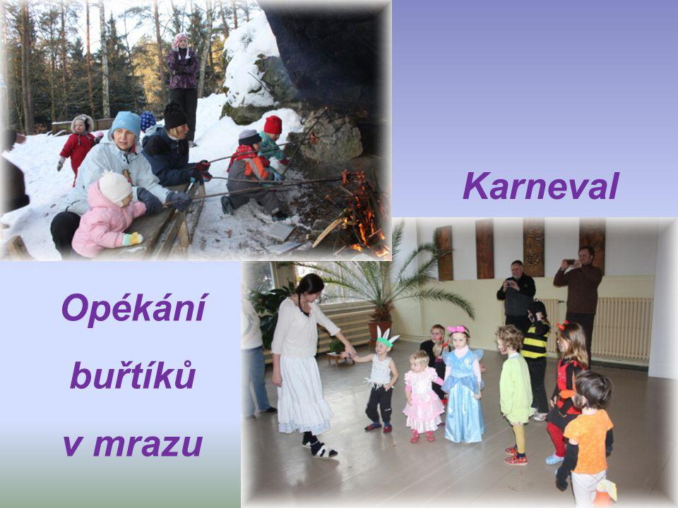 Karneval Opékání buřtíků v mrazu