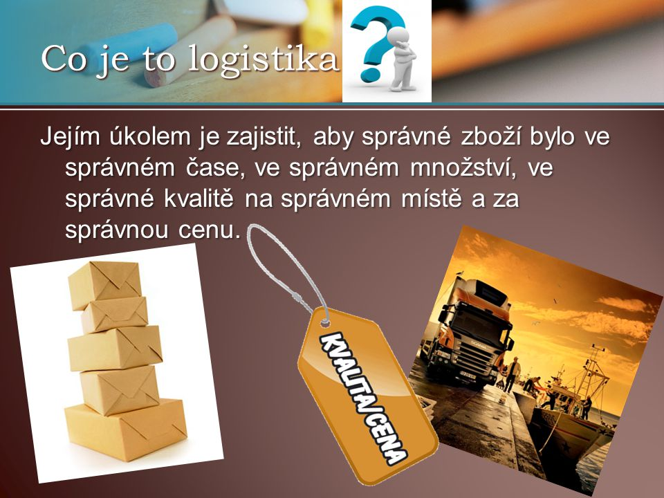 Co je to logistika