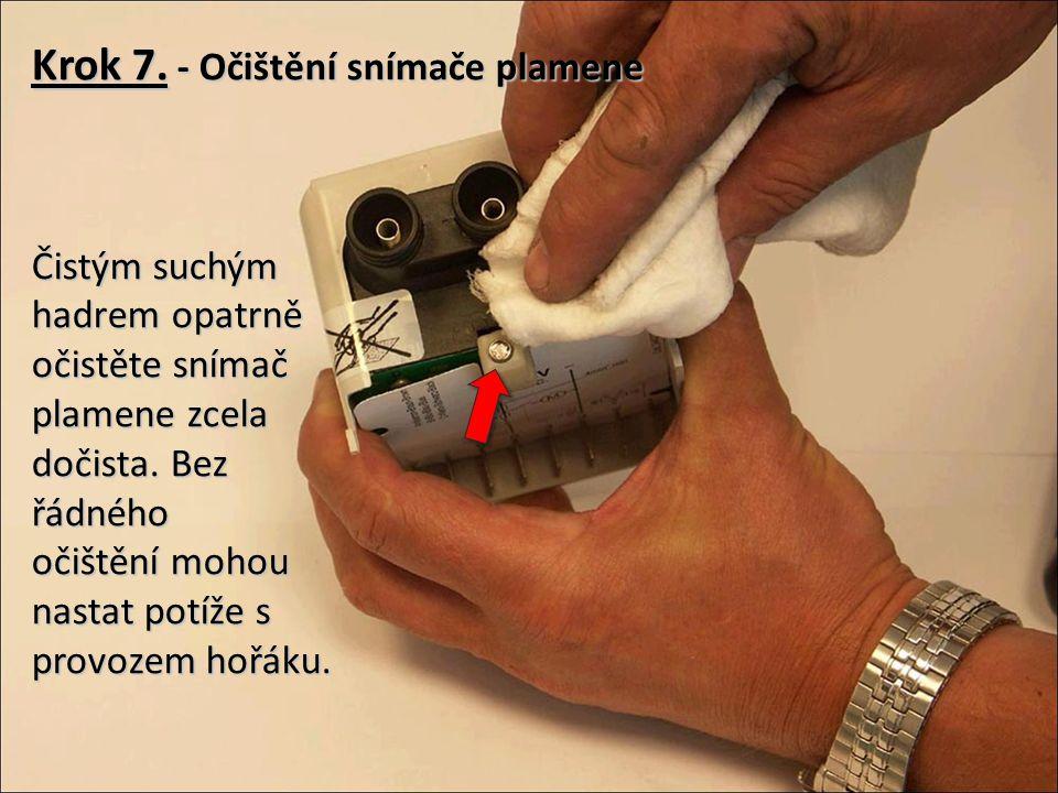 Krok 7. - Očištění snímače plamene