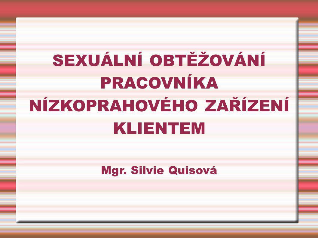 SEXUÁLNÍ OBTĚŽOVÁNÍ PRACOVNÍKA NÍZKOPRAHOVÉHO ZAŘÍZENÍ KLIENTEM