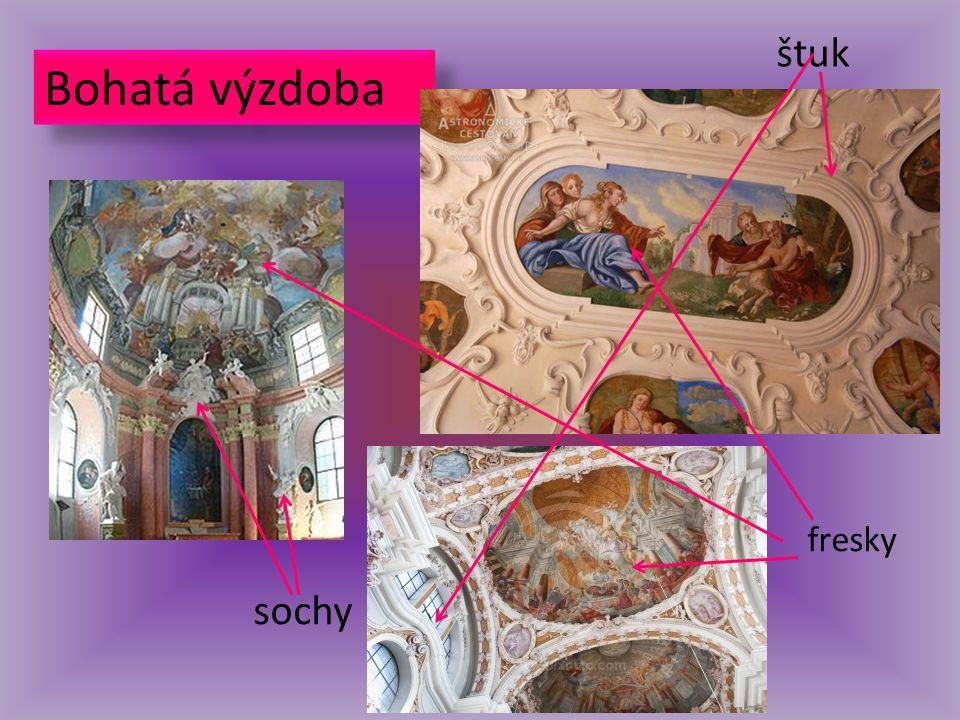 štuk Bohatá výzdoba fresky sochy