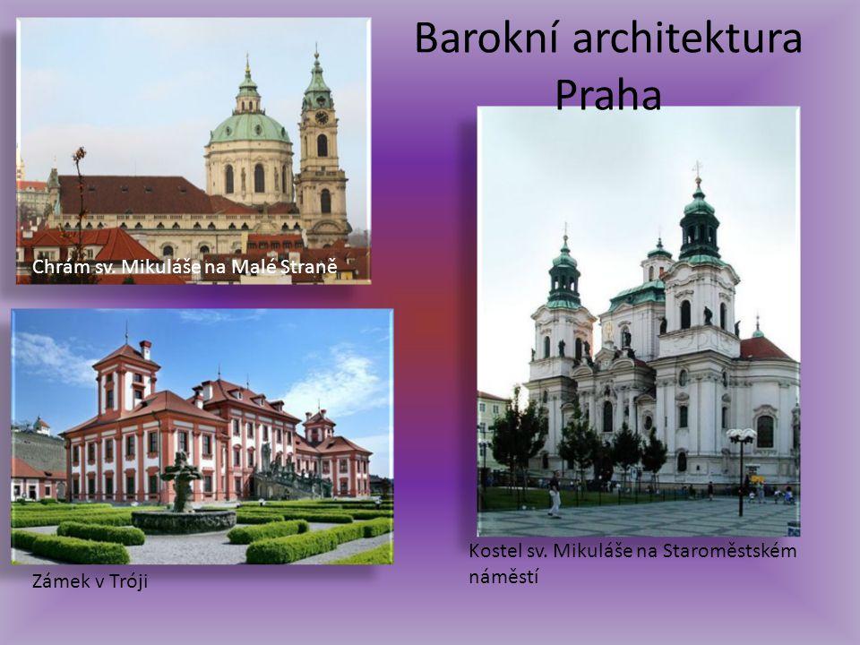 Barokní architektura Praha