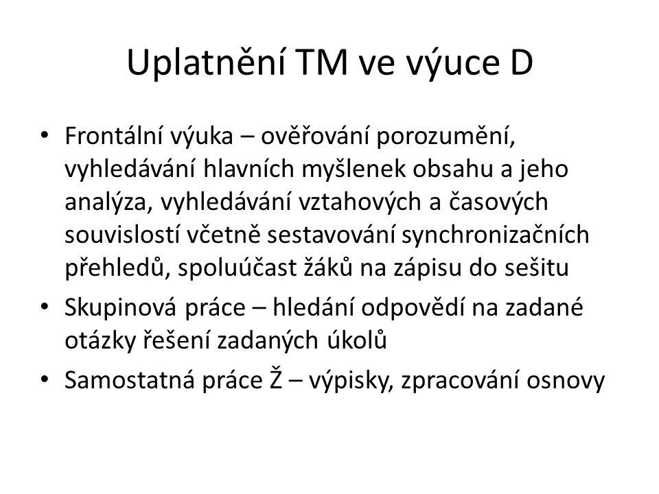Uplatnění TM ve výuce D