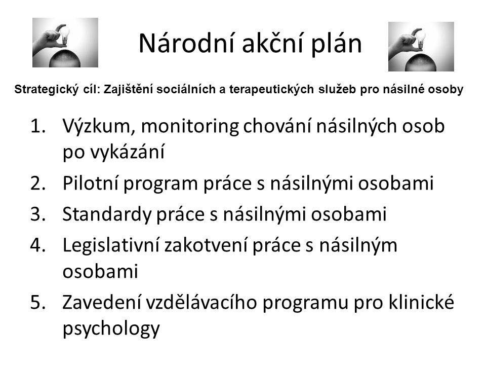 Národní akční plán Strategický cíl: Zajištění sociálních a terapeutických služeb pro násilné osoby.