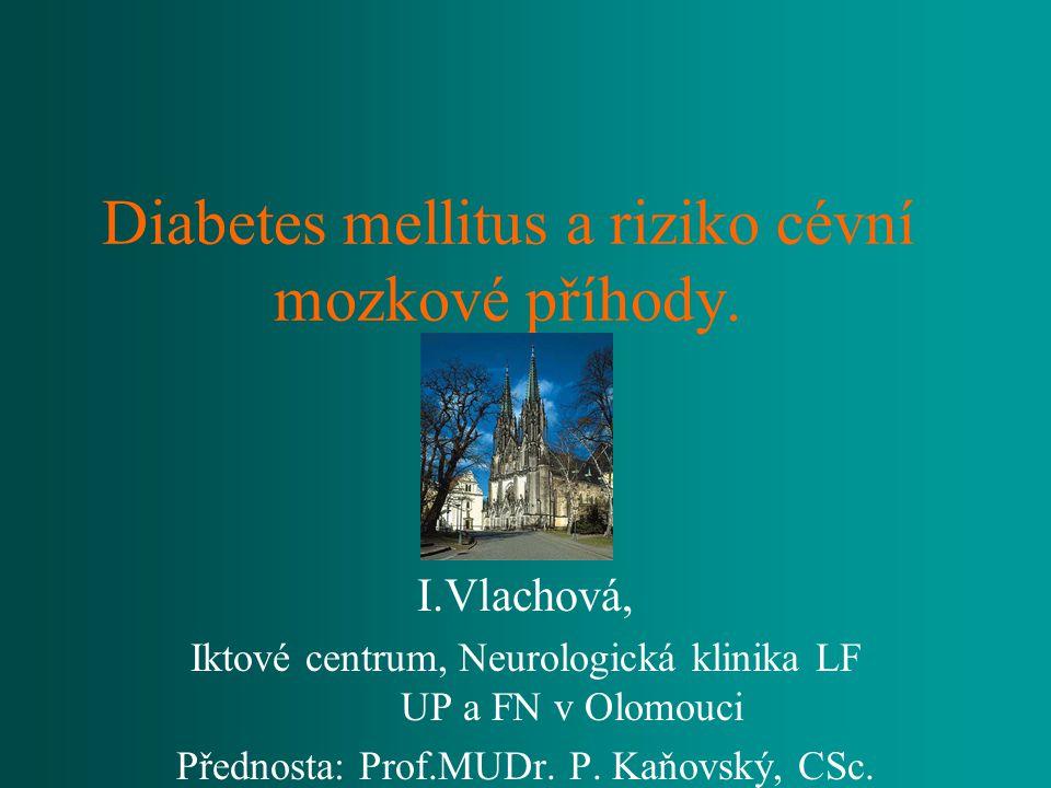 Diabetes mellitus a riziko cévní mozkové příhody.