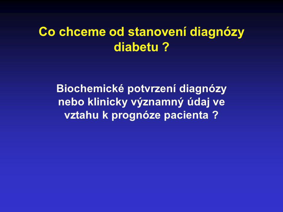 Co chceme od stanovení diagnózy diabetu