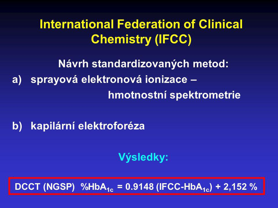 International Federation of Clinical Chemistry (IFCC)