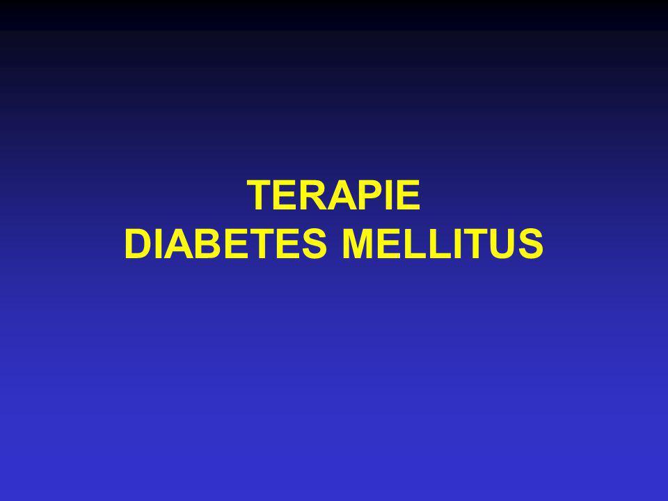 TERAPIE DIABETES MELLITUS