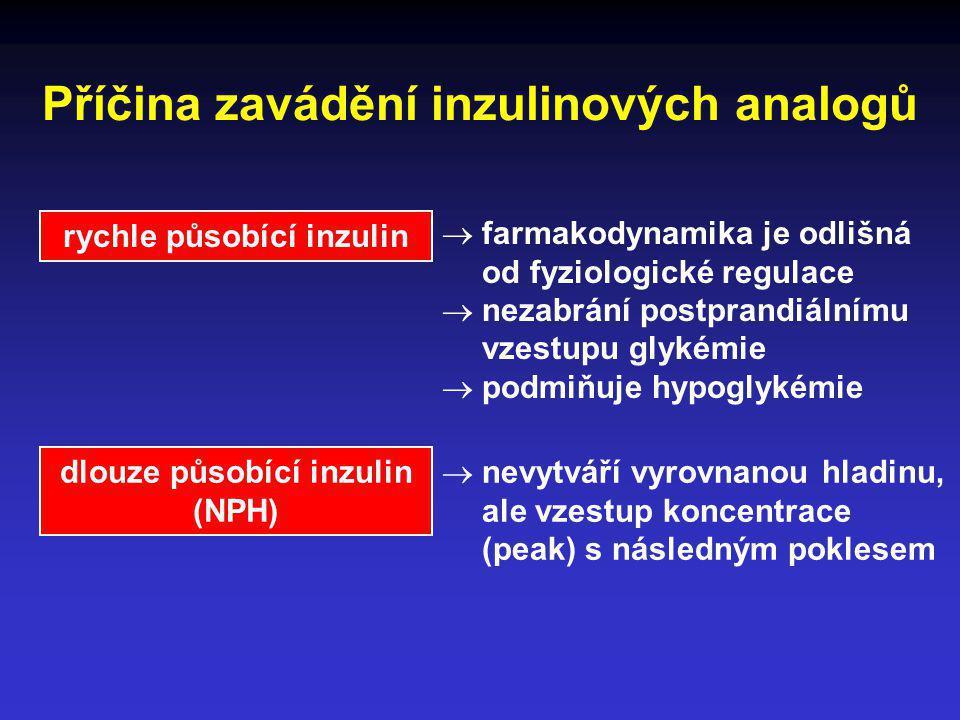 Příčina zavádění inzulinových analogů