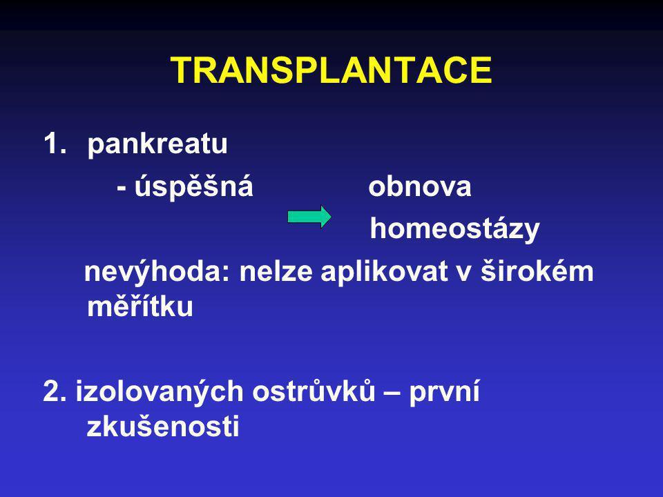 TRANSPLANTACE pankreatu - úspěšná obnova homeostázy
