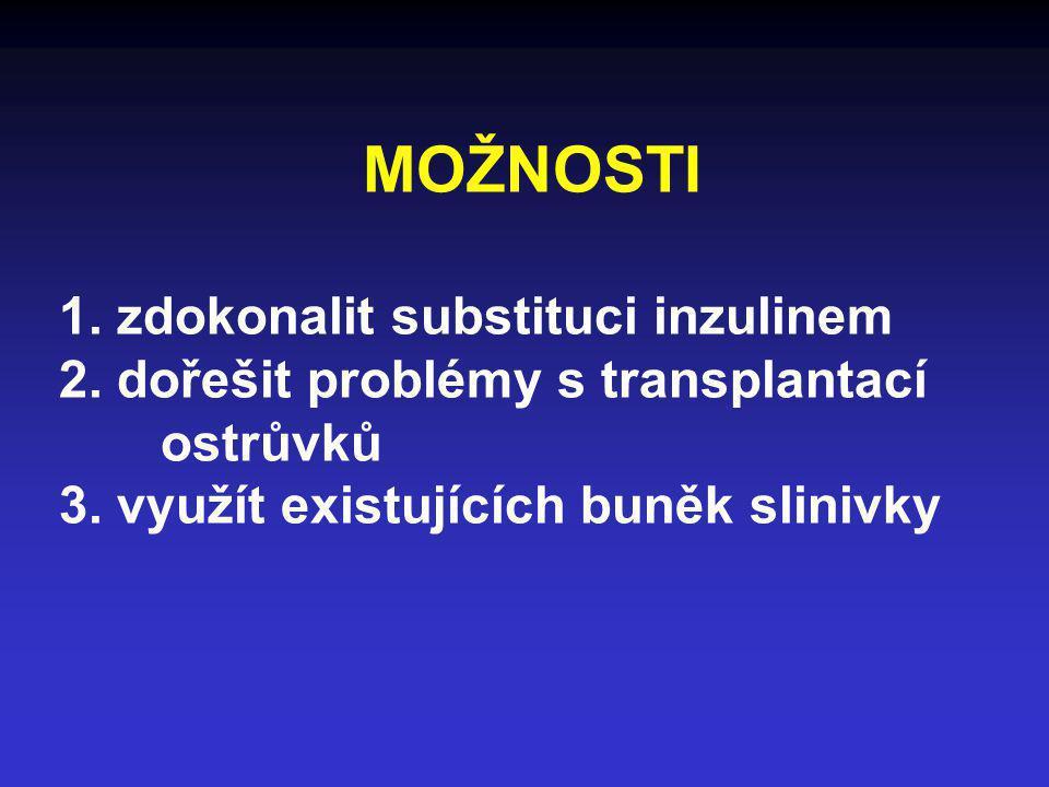 MOŽNOSTI 1. zdokonalit substituci inzulinem 2