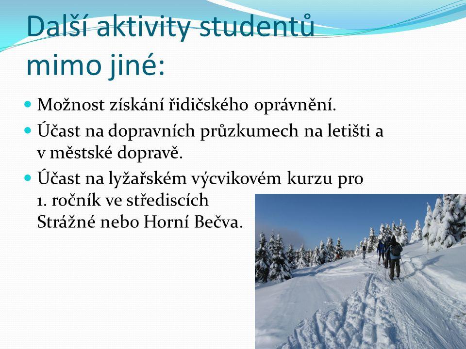Další aktivity studentů mimo jiné: