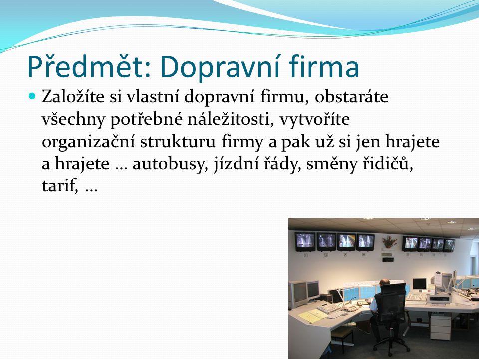 Předmět: Dopravní firma