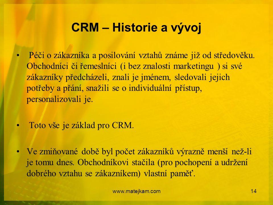 CRM – Historie a vývoj