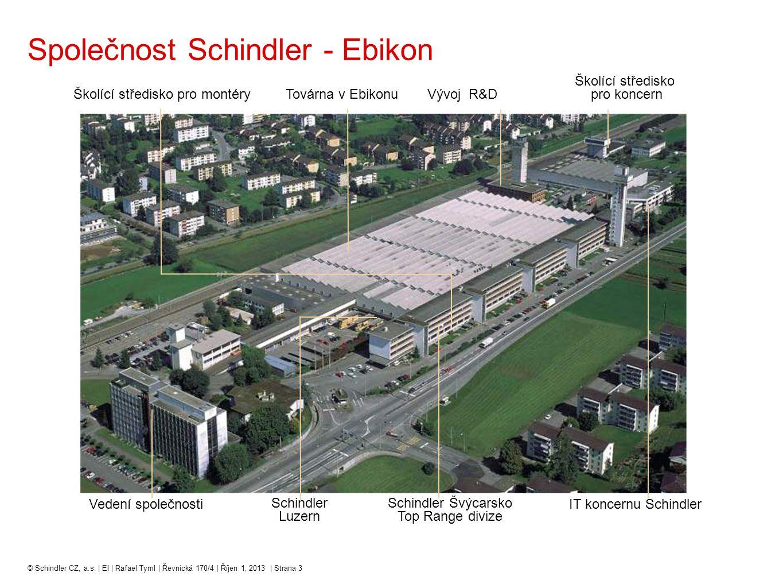 Společnost Schindler - Ebikon