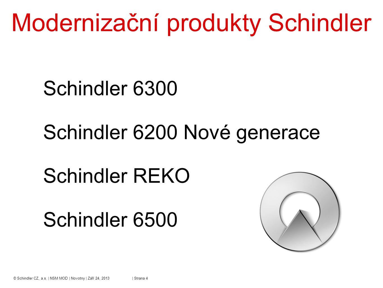 Modernizační produkty Schindler