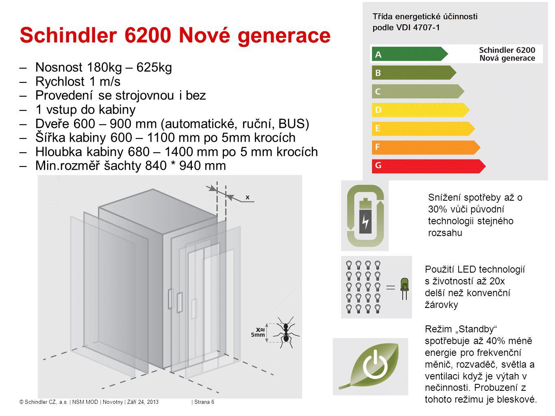 Schindler 6200 Nové generace
